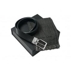 Подарочный набор: шарф шерстяной, ремень
