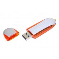 USB 2.0- флешка промо на 4 Гб овальной формы