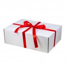 Подарочная лента для универсальной подарочной коробки 350*255*113 мм,  красная, 20 мм