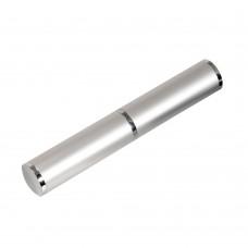 Коробка подарочная, футляр - тубус, алюминиевый, серебряный, матовый, для 1 ручки